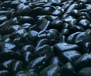 Black Polished Tumbled Pebbles